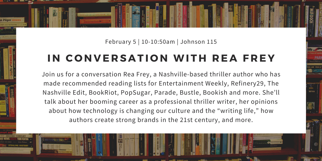 In Conversation with Rea Frey @ Johnson 115 - Large Theater