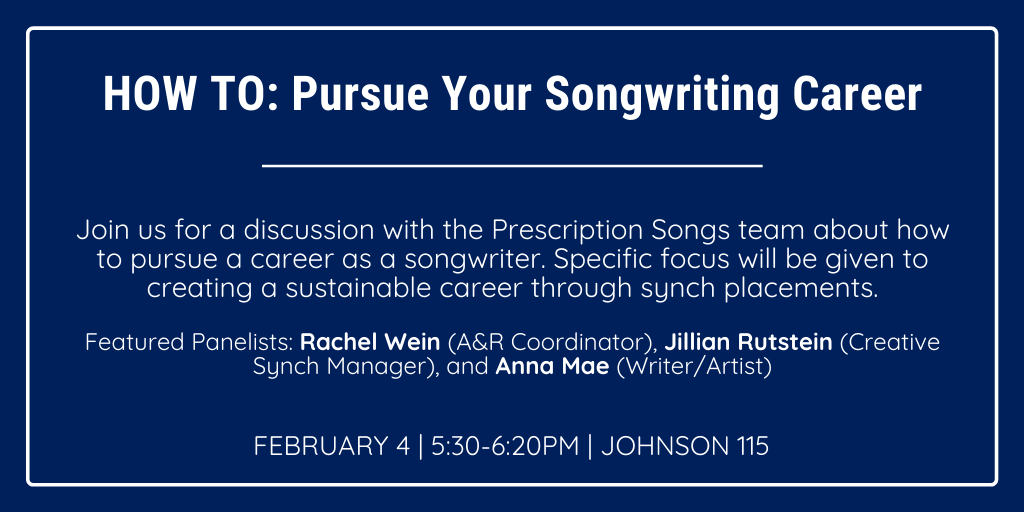 HOW TO: Pursue Your Songwriting Career @ Johnson 115 - Large Theater