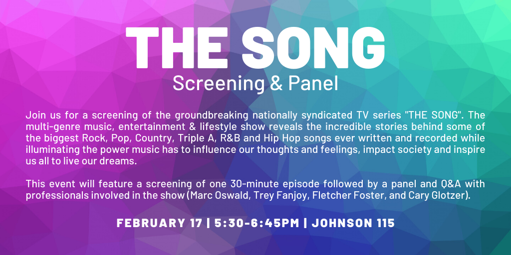 """THE SONG"" Screening & Panel @ Johnson 115 - Large Theater"